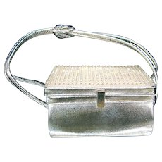 Arnold Scaasi Silver Studded Evening Bag
