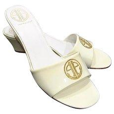 Vintage Lilly Pulitzer Logo Wedge Sandal Slides