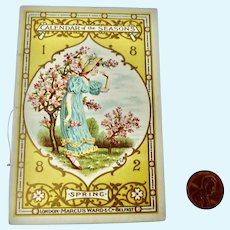 Rare 1882 Kate Greenaway 'Calendar of the Seasons' Booklet for Fashion Doll