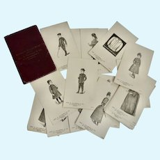 RARE Boston 1888-89 Victorian Fashion leather Folio 29 Advertising Trade Cards for Fashion DOLL