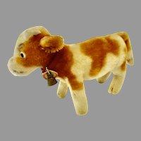 Steiff BESSY Mohair Cow w Original Collar & Bell 12cm