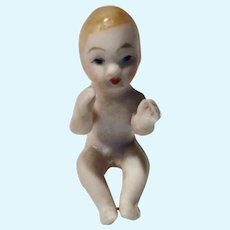 """1"""" GERMAN Bisque Nude Piano BABY Dollhouse DOLL Sitting"""