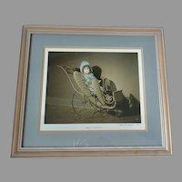 Framed French Bebe Bru DOLL Signed LE WARD NICHOLS Print