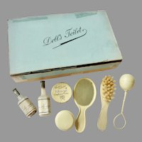 Antique GERMAN Doll Toilette 'Toilet' Set for French Fashion or Bebe' DOLL in Original BOX