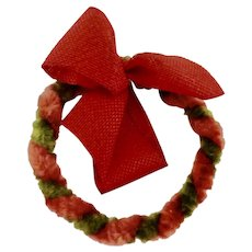 Rare 1928-53 'Dolly Dear' Dollhouse Chenille CHRISTMAS Wreath