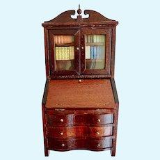 LYNNFIELD 1940-50's Dollhouse Miniature Mahogany Secretary Desk