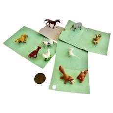 Vintage 'New old stock' 1960's Dollhouse Miniature ANIMALS