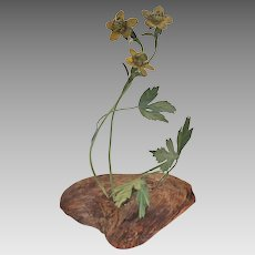 Antique French or Italian Narcissus Toleware Floral Arrangement