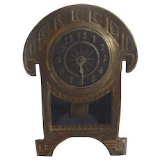 Antique GERMAN Erhard Sohne Art Deco Dollhouse Ormolu Metal CLOCK
