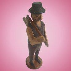 Rare Karl Muller GERMAN Erzgebirge PUTZ Hand Carved Toy LUMBERMAN ~Museum Worthy~