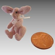 "Tiniest 1"" HANDMADE Dollhouse Miniature BUNNY Rabbit ~from Germany"