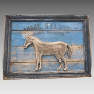 Antique FOLK ART Painted Carved Wood PONY Horse School TRADE SIGN