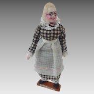 'Aunt Polly' Handmade Miniature DOLLHOUSE Doll from Mark Twain Tom Sawyer OOAK Vintage
