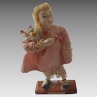 'Becky' Handmade Miniature DOLLHOUSE Doll from MARK TWAIN Tom Sawyer Book OOAK Vintage