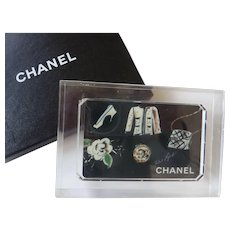 RARE Vintage CHANEL Boutique VIP American Express Card DISPLAY in Lucite Karl Lagerfeld