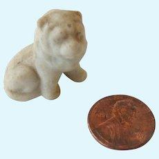 "Antique TINY 1""  Bisque Lion Cub No Snow Snow Babies DOLLHOUSE"