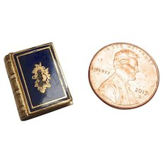 Antique Victorian TINY Enamel Gold LOCKET perfect for French Fashion DOLL