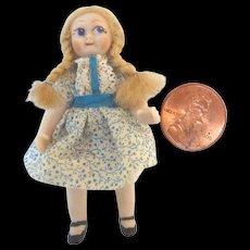 OOAK Artist Bisque Miniature GOOGLY Dollhouse DOLL Cutie Mini