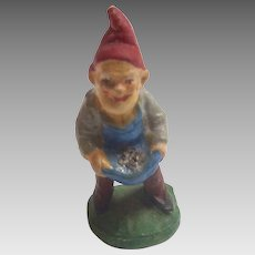Antique 1900 GERMAN Erzgebirge PUTZ Santa's ELF Gnome for Doll house Santa's Workshop FAIRY House
