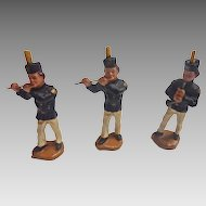 Antique 1900 GERMAN Erzgebirge PUTZ Miner Band for Doll house NATIVITY