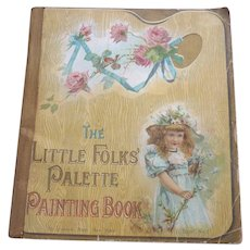 Rare 1897 McLoughlin Lithograph Children's Painting Book No. 1 UNUSED
