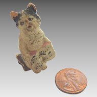 Antique GERMAN Dollhouse Miniature CAT