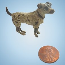 Antique Miniature VIENNA Austrian Bronze Cold Painted Jack Russell Terrier DOG Perfect for DOLLHOUSE