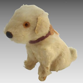 "Antique 2"" Miniature Fripon Fox TERRIER Salon Dog for FRENCH Fashion DOLL or Dollhouse"