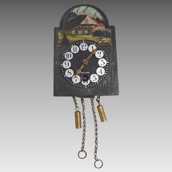 GERMAN Cuckoo Black Forest CLOCK Dollhouse Miniature