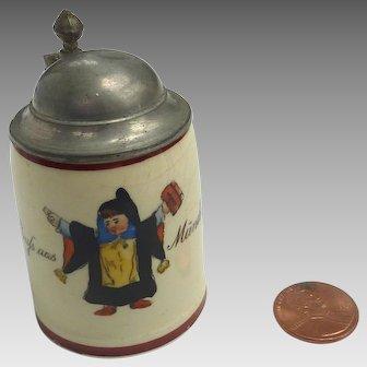 Antique Miniature GERMAN Miniature STEIN for Dollhouse or DOLL