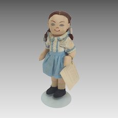 1940's Handmade Cloth FOLK Art DOROTHY Doll w Provenance
