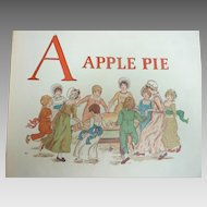 Rare 1900 Kate GREENAWAY 'A Apple Pie' Printed by Edmund Evans