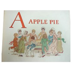 Rare 1900 Kate GREENAWAY 'A Apple Pie' Printed by Edmund Evans