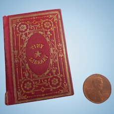 Antique 1850 Miniature 'Tiny Library' Doll Doll House Book