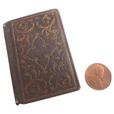 Antique 1850 Miniature 'Daily Manna' Doll Doll House Book