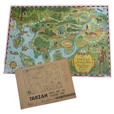 Rare TARZAN 1933 Jungle Map & Treasure Hunt GAME Weston Bisquit Mailer ENVELOPE