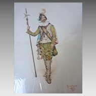 LISTED Original WATERCOLOR Painting Giuseppe SIGNORINI Paris, Italian(1857-1932)