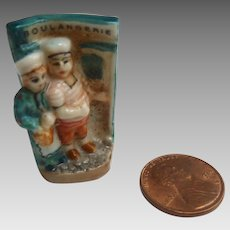 "Tiny 1.5"" FRENCH Porcelain Miniature 'Boulangerie' Doll House Figurine"
