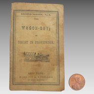 Rare Antique 1850 Miniature 'WAGON BOY' Doll Book