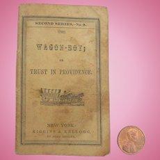 Rare Antique 1850 Miniature 'WAGON BOY' Doll Book