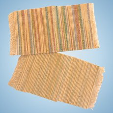 Vintage Hand Woven DOLLHOUSE Miniature Rugs