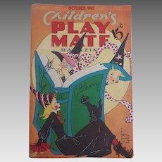1943 October HALLOWEEN Children's Magazine Fern Bissel Peat