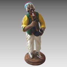 Italian Neopolitan Creche Presepe Nativity Armando Del GIUDICE Terra Cotta SAXOPHONE Figurine