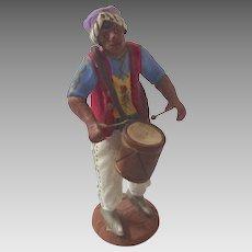 Italian Neopolitan Creche Presepe Nativity Armando Del GIUDICE Terra Cotta DRUMMER Figurine