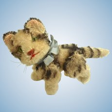 "Sweet 4"" STEIFF Jointed KITTY Kitten CAT Mohair 1950's"