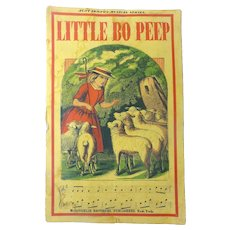 SCARCE 1865 'Little Bo Peep' MCLOUGHLIN Hand Colored Children's Book SHEEP