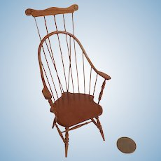 Artisan IGMA Ron HAMMOND Windsor Braced Comb Back CHAIR DOLLHOUSE Miniature