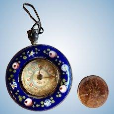 Antique French PARIS Enamel Miniature TOY Fashion Doll Watch