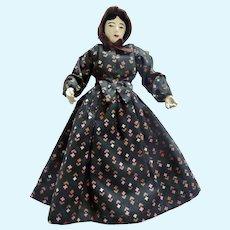 "1940's 7.5"" Handmade Artisan FOLK Art Prairie Dollhouse DOLL"