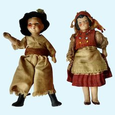 GERMAN Hertwig Bisque Dollhouse Miniature Hungarian Nationality Costume DOLLS